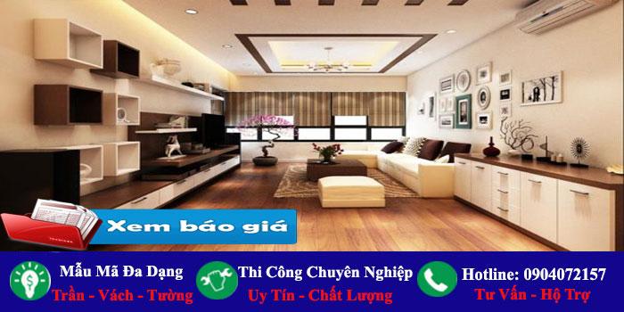 Chuyên nhận làm trần vách ngăn thạch cao Bình Tân giá rẻ