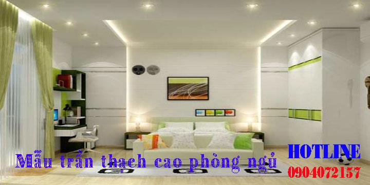 Mẫu trần thạch cao phòng ngủ đẹp giá rẻ